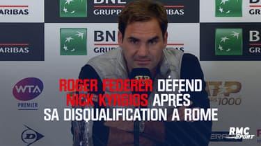 Federer prend la défense de Kyrgios après sa disqualification