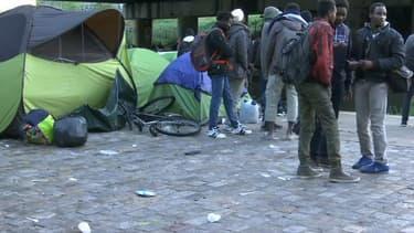 Le campement de migrants près de la Porte de la Villette, le 20 avril 2018.