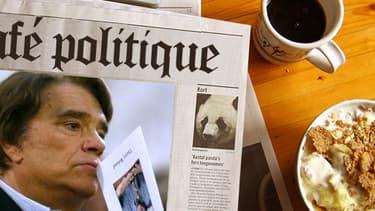 """Bernard tapie, nouveau patron du groupe de presse """"La Provence"""", se dit prêt à """"aider François Hollande"""", mardi 30 avril 2013."""