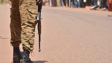 Un soldat au Burkina Faso en octobre 2018.