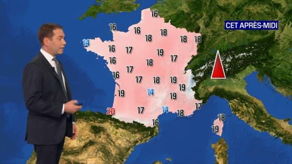 Les températures maximales pour ce 23 février.