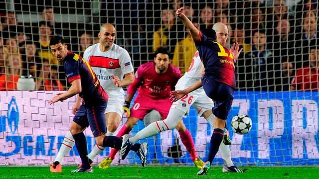 Pedro, de dos, lors de son but face au PSG