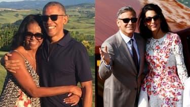 Le couple Obama, le couple Clooney