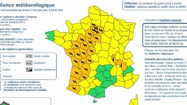 La vigilance orange pour les orages concerne 25 départements