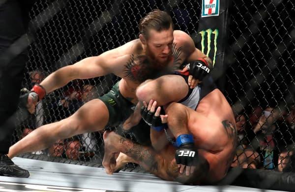 Conor McGregor lors de son combat contre Donald Cerrone en janvier 2020