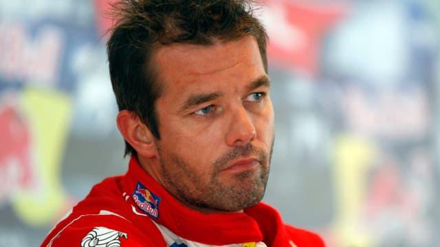 Sébastien Loeb ne peut cacher sa déception après la panne qui l'a contraint à l'abandon