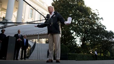 Donald Trump s'exprime face à la presse, le 3 octobre, à la Maison Blanche.
