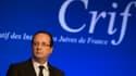 François Hollande, mardi, lors du dîner annuel du Crif.