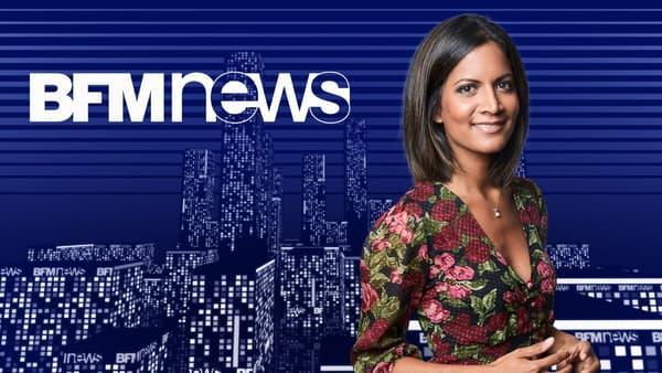 """Aurélie Casse présente """"BFM News"""" sur BFMTV"""
