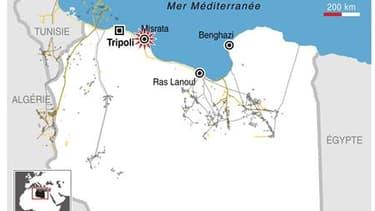 LA VILLE LIBYENNE DE MISRATA BOMBARDÉE PAR LES FORCES DE MOUAMMAR KADHAFI