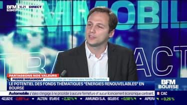 """Pierre Miramont (Quantalys) : le potentiel des fonds thématiques """"énergie renouvelable"""" en bourse - 30/09"""
