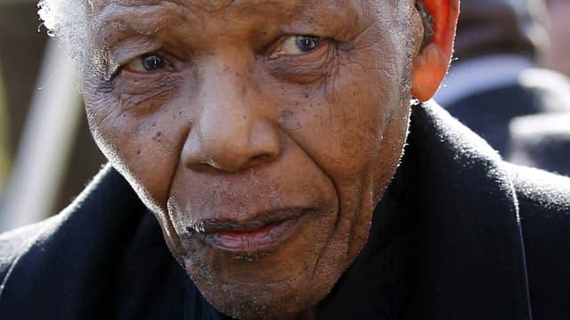 L'ancien président sud-africain Nelson Mandela.