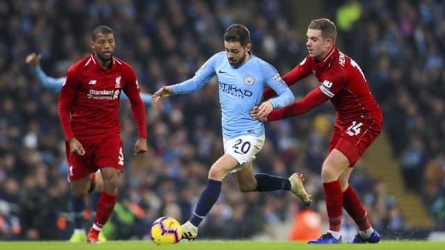 Bernardo Silva lors de Man. City - Liverpool