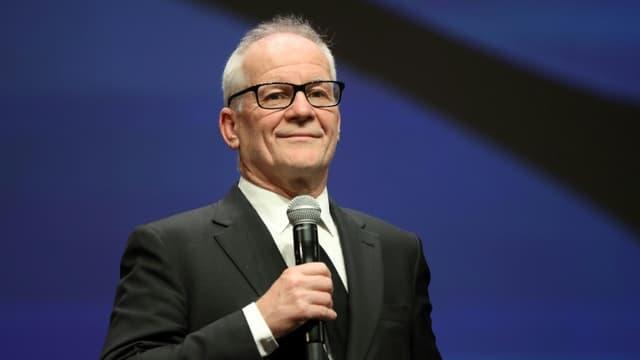 Thierry Frémaux, délégué général du festival de Cannes, au Palais des festivals, à Cannes, le 27 octobre 2020