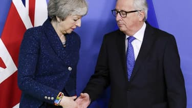 La rencontre entre Theresa May et Jean-Claude Juncker,  jeudi 7 février à Bruxelles, n'a débouché sur aucun résultat.