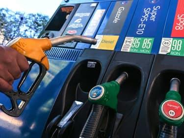 Station essence à Montpellier le 12 octobre 2021