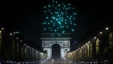 Les Champs-Elysées après la demi-finale de l'Euro de football en 2016.