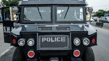 Un véhicule de la police nigériane