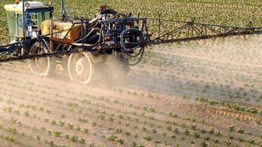 Agriculteur répandant des pesticides. (Photo d'illustration)