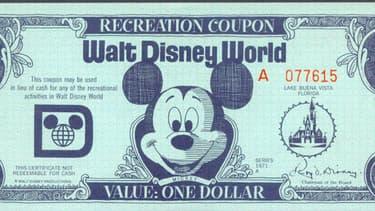 Mickey Mouse apparaît sur les billets d'un dollar Disney.
