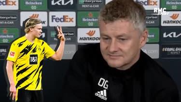 """Man United : """"Haaland ? On parle souvent, on verra ce que l'avenir réserve"""" sourit Solskjaer"""