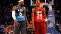LeBron James et Kobe Bryant