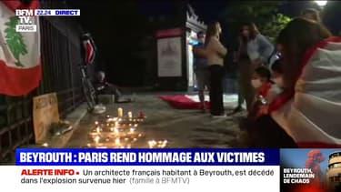 Paris: à Montmartre, l'hommage aux victimes des explosions de Beyrouth