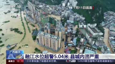 Le sud de la Chine toujours touché par d'importantes inondations et glissements de terrain