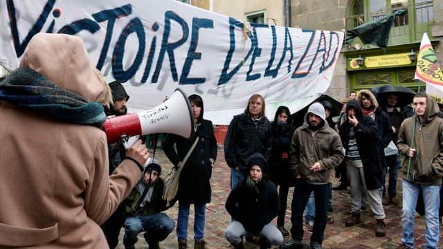 A Rennes, la mobilisation contre le projet d'aéroport à Notre-Dame-des-Landes est active. (Photo d'illustration)