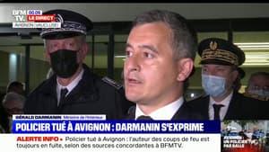 """Gérald Darmanin: """"La lutte contre les trafics de stupéfiants s'apparente à une guerre (...) aujourd'hui, un de ces soldats est mort en héros"""""""