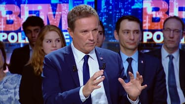 Nicolas Dupont-Aignan sur BFMTV, le 2 avril.