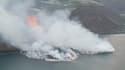 La lave du volcan Cumbre Vieja atteint l'océan, mercredi 29 septembre.