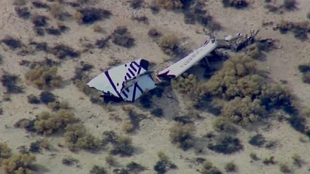 Un vaisseau spatial Virgin Galactic s'est écrasé, ce vendredi.