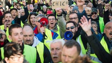 Manifestation des gilets jaunes à Aix-en-Provence le 22 décembre 2018
