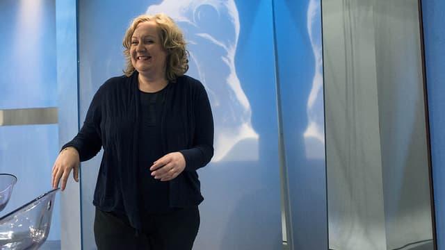 Sophie Montel, candidate FN aux élections régionales en Bourgogne-Franche-Comté, le 9 décembre 2015 lors d'un débat organisé par France 3.