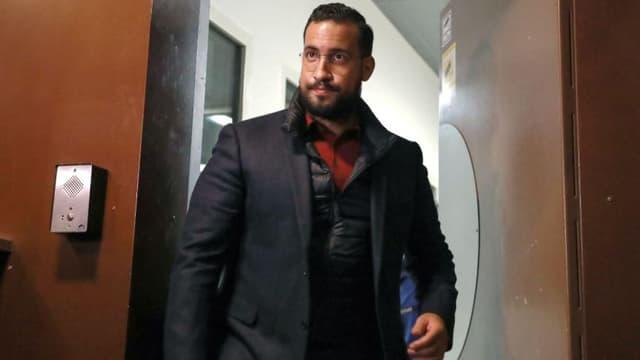 Alexandre Benalla, à sa sortie de détention provisoire le 26 février 2019.