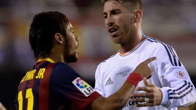 Neymar et Sergio Ramos