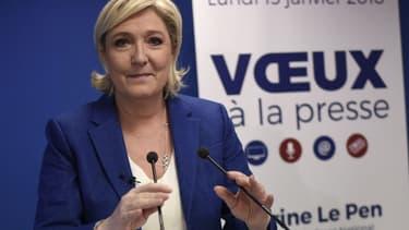 Marine Le Pen adresse ses vœux à la presse le 15 janvier 2018