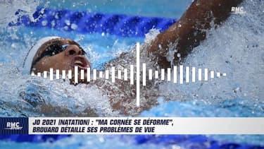 """JO 2021 (natation) : """"Ma cornée se déforme"""", Brouard détaille ses problèmes de vue"""