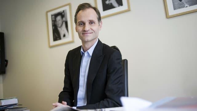 Fabien Namias, dans son bureau d'Europe 1, en 2013.