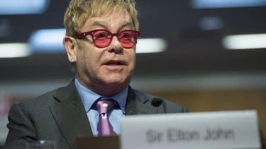 Le chanteur britannique Elton John à Washington le 6 mai 2015