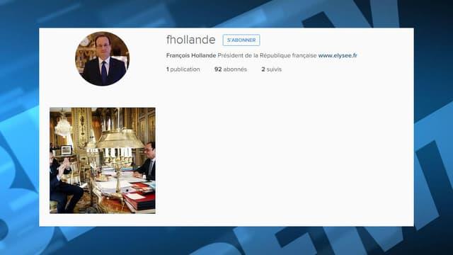 Le profil de François Hollande sur Instagram.