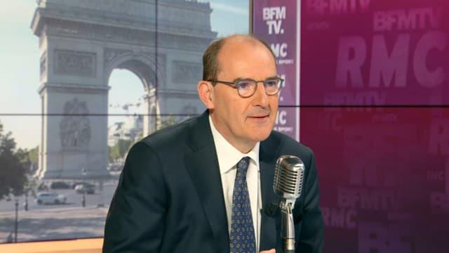 Le Premier ministre Jean Castex invité de Jean-Jacques Bourdin sur BFMTV-RMC, le 8 juillet 2020.