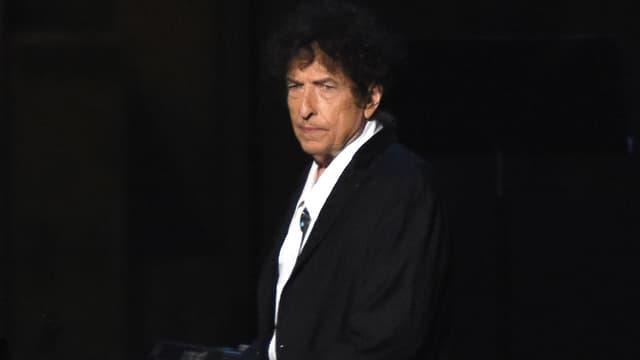 Bob Dylan sur scène à Los Angeles en février 2015
