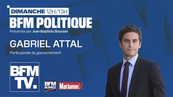 Gabriel Attal dans BFM Politique