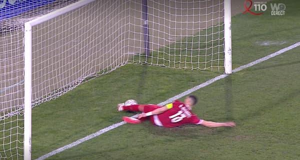 Le ballon de Ronaldo semble bien avoir franchi la ligne, lors de Serbie-Portugal