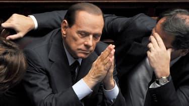 Silvio Berlusconi, en septembre 2011, au Parlement italien.