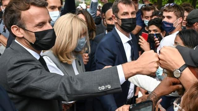 Emmanuel et Brigitte Macron le 8 juin 2021 à Valence (Drôme).