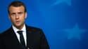 Emmanuel Macron au Conseil européen du 20 octobre 2017 à Bruxelles.
