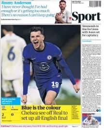 Le cahier Sport du Guardian